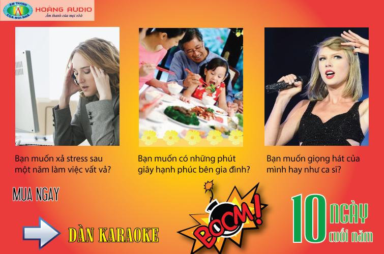Dàn karaoke gia đình đặc biệt với chương trình 10 ngày của năm 2015