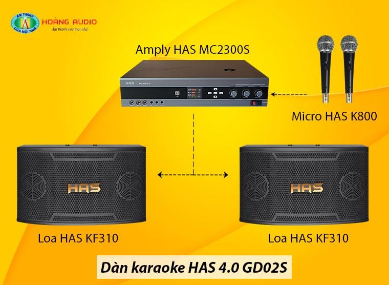 Đấu nối Dàn karaoke HAS 4.0 GD02S