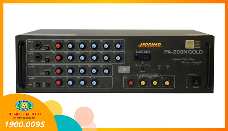 Amply karaoke Jarguar PA 203N Gold Bluetooth (NH)