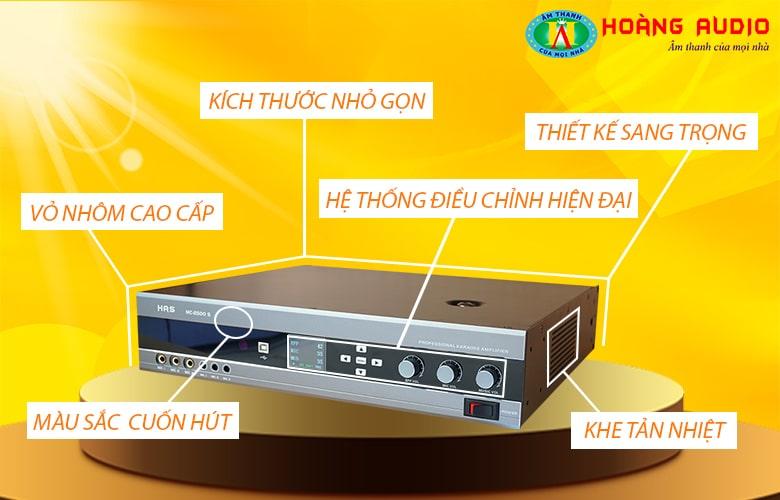 Tính năng Amply karaoke số HAS MC 2500S