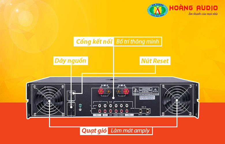 Amply karaoke số HAS MC500-2