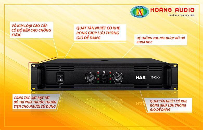 Cục đẩy công suất HAS 2800NX