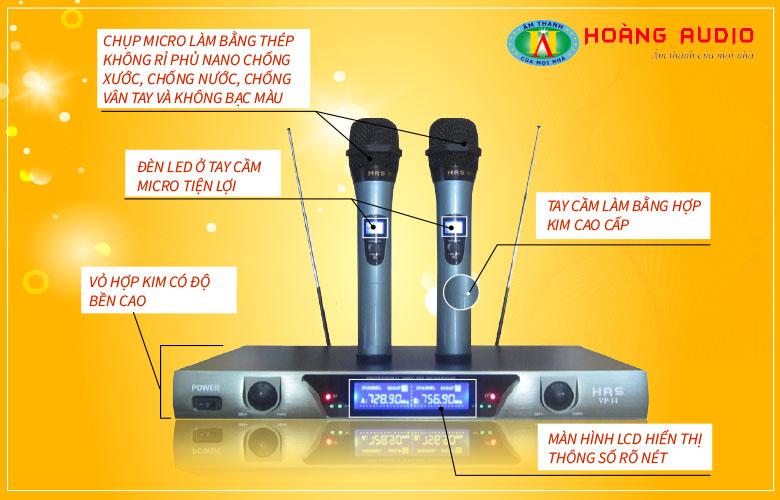 Đặc điểm Micro không dây HAS VP14