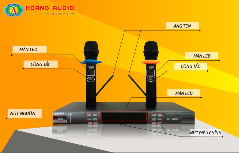 Micro không dây HAS VF16 - chi tiết