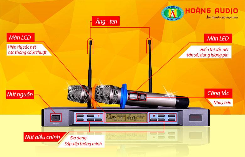 Đặc điểm Micro không dây HAS VP18