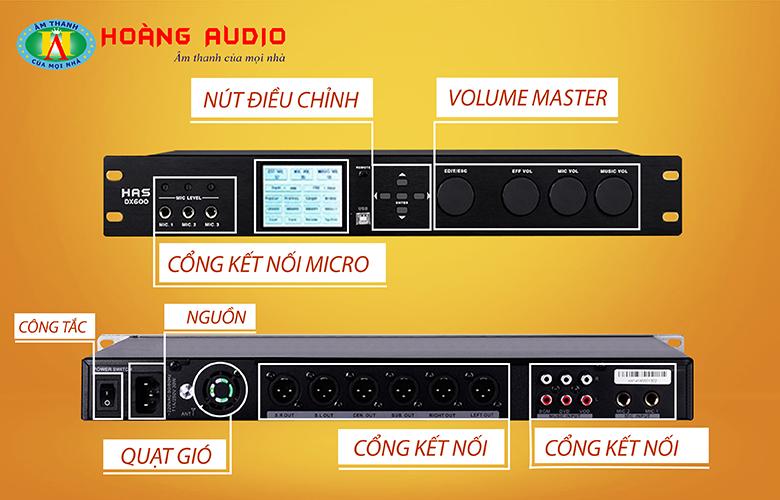 Dòng Mixer karaoke chuyên nghiệp HAS DX600.