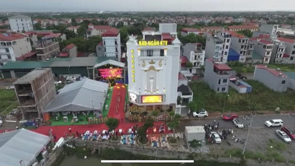 Quang cảnh hoành tráng, đẹp đẽ quán Karaoke Bảo Ngân từ trên cao được cắt ra từ clip
