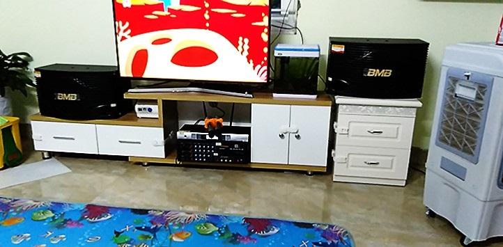 Dàn karaoke BMB chính hãng lắp sử dụng tại gia đình.