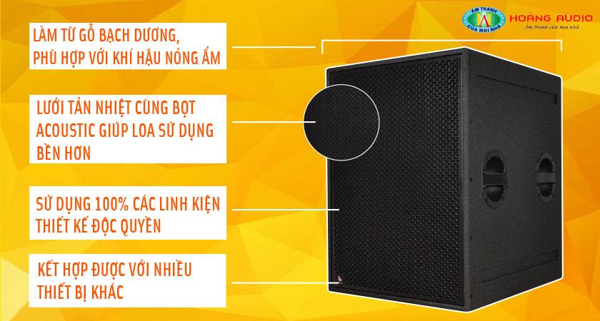 Chọn loa Sub 4Acoustic PCS 118HB cho âm thanh siêu trầm