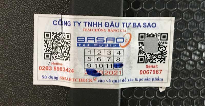 Tem vỡ Chuẩn của nhà nhập khẩu Ba Sao