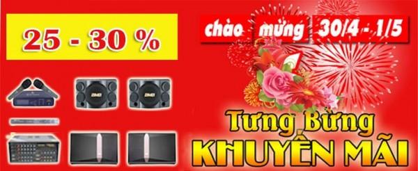 Dàn, loa, amply karaoke công suất - thiết bị chuyên nghiệp Khuyến mãi 30/4