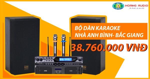 Bộ dàn âm thanh karaoke gia đình anh Bình ở Việt Yên - Bắc Giang