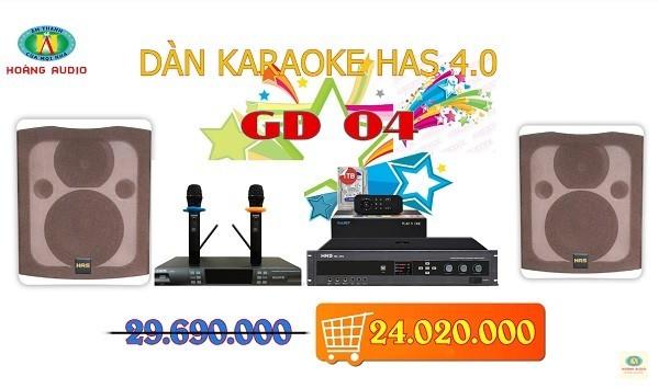 Dàn karaoke gia đình HAS 4.0 [P2- 03 Mẫu Dàn karaoke 2019]