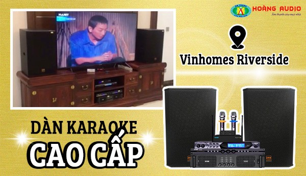 Bộ dàn karaoke của gia đình chị Quỳnh tại Vinhomes Riverside