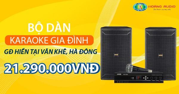Bộ dàn karaoke gia đình chị Hiền ở khu đô thị Văn Khê, Hà Đông