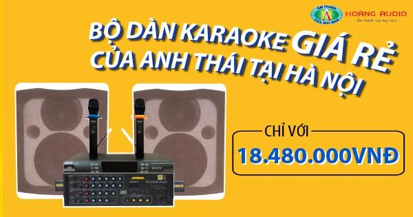 Bộ dàn karaoke gia đình giá rẻ của anh Thái tại Hà Nội