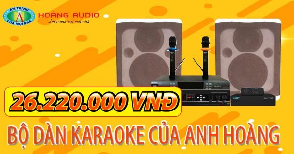Bộ dàn karaoke của gia đình anh Hoàng
