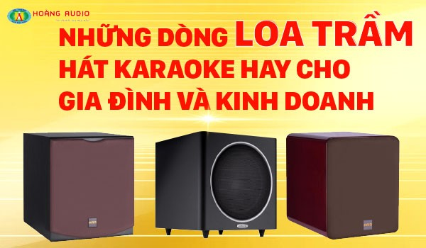 Những dòng Loa trầm hát Karaoke hay cho gia đình và kinh doanh