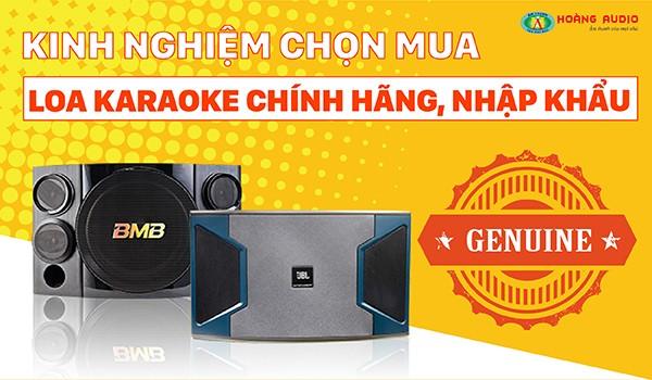 Tư vấn | Kinh nghiệm chọn mua loa karaoke chính hãng nhập khẩu