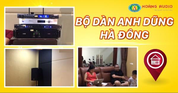 Bộ dàn karaoke gia đình của Anh Dũng tại Hà Đông