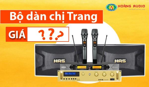 Bộ dàn karaoke giá rẻ cực hay chỉ 20 triệu đồng của chị Trang tại Aquabay, Ecopark