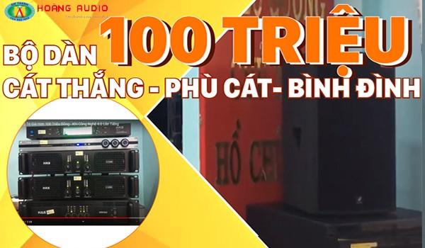 Công trình dàn karaoke chuyên nghiệp tại UBND xã Cát Thắng - Phù Cát - Bình Định