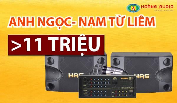 Lắp bộ dàn karaoke giá rẻ cho gia đình anh Ngọc - Nam Từ Liêm