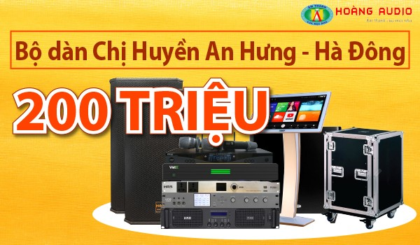 Lắp đặt 2 bộ dàn karaoke và xem phim cực khủng trên 200 triệu đồng cho gia đình chị Huyền - Hà Đông