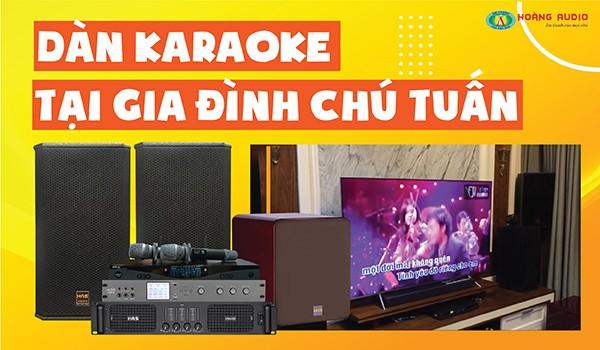 Lắp đặt bộ dàn karaoke 42 triệu cực hay cho chú Tuấn - Linh Đàm