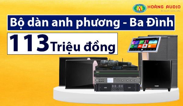 Lắp đặt bộ dàn karaoke cực khủng 113 triệu đồng cho anh Phương tại Ba Đình