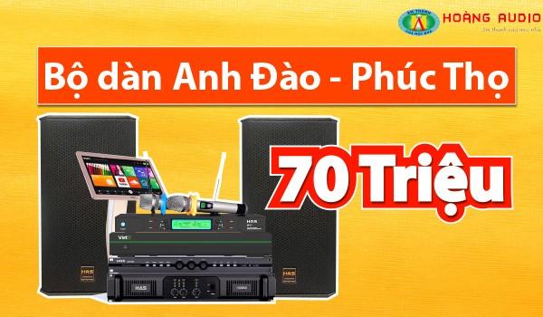 Lắp đặt bộ dàn karaoke siêu vip tầm giá 70 triệu đồng tại Phúc Thọ - Hà Nội
