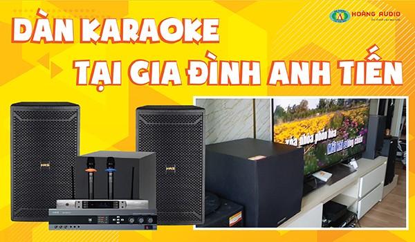 Lắp đặt bộ dàn karaoke tại gia đình anh Tiến - Hà Đông