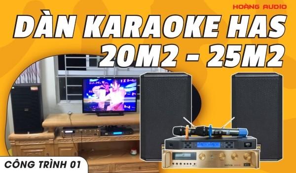 Lắp đặt bộ dàn karaoke cho gia đình A Hưng - KDT Hồng Hà Eco - Thanh Trì - HN