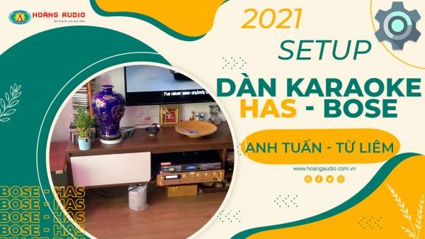 Bộ karaoke Bose đúng chuẩn của gia đình Anh Tuấn - Từ Liêm