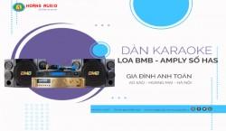 Bộ karaoke loa Nhật kết hợp Amply số của gia đình Anh Toán - Ao Sào