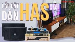 Lắp đặt bộ dàn karaoke hát hay cho gia đình Anh Tố - Hà Đông